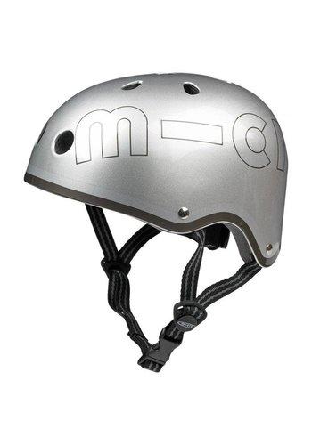 Micro helmet Metallic Silver