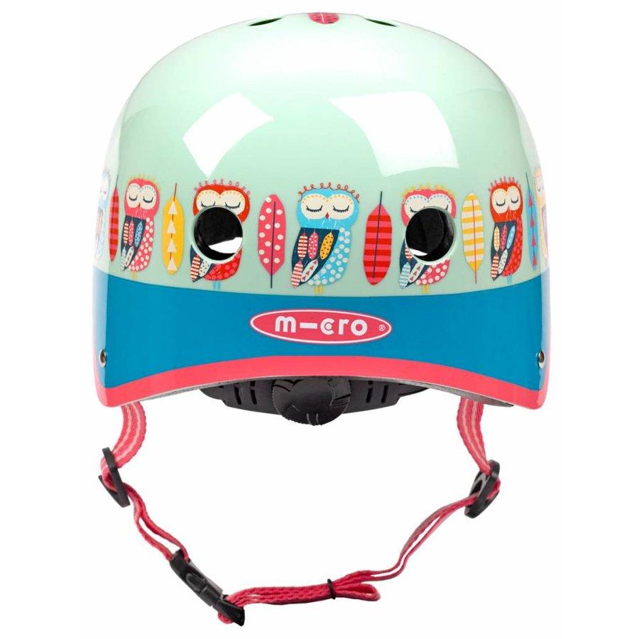 Micro helm  met Uilen patroon