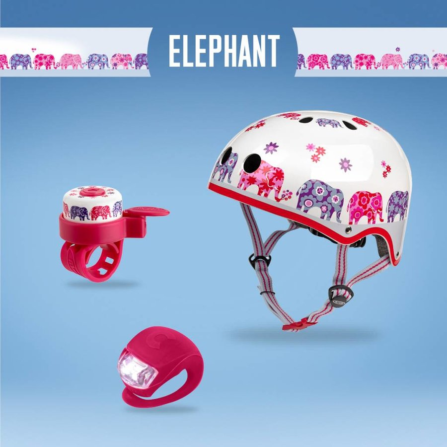 Micro safety set Elephant helmet/bell/light
