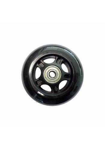 Micro wiel 80mm zwart (13396)