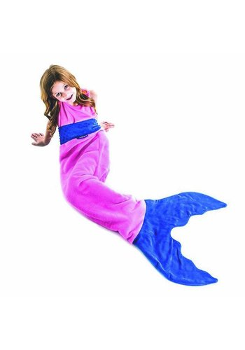 Blankie Tails zeemeermin deken roze/blauw