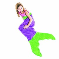 Blankie Tails Zeemeermin deken paars/groen