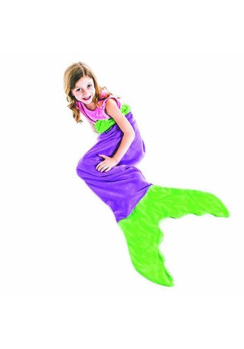 Blankie Tails meermaid blanket Purple/Green