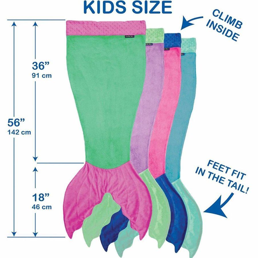 Blankie Tails Zeemeermin deken groen/roze