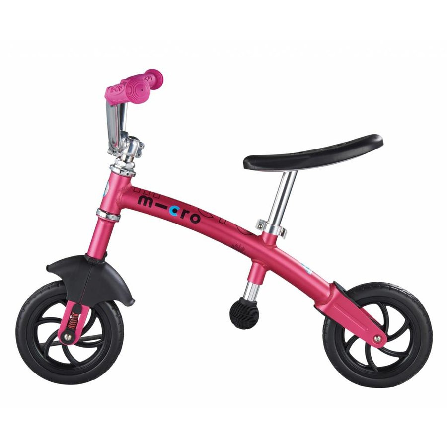 Micro Loopfiets G-bike Carver Deluxe 2in1 roze