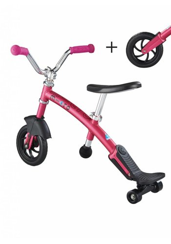 Micro Balance Bike Carver 2in1 Pink