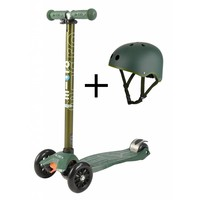 Maxi Micro Metallic Camo scooter + helm