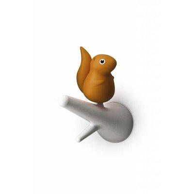 Haakjes Eekhoorn Wit-Oranje