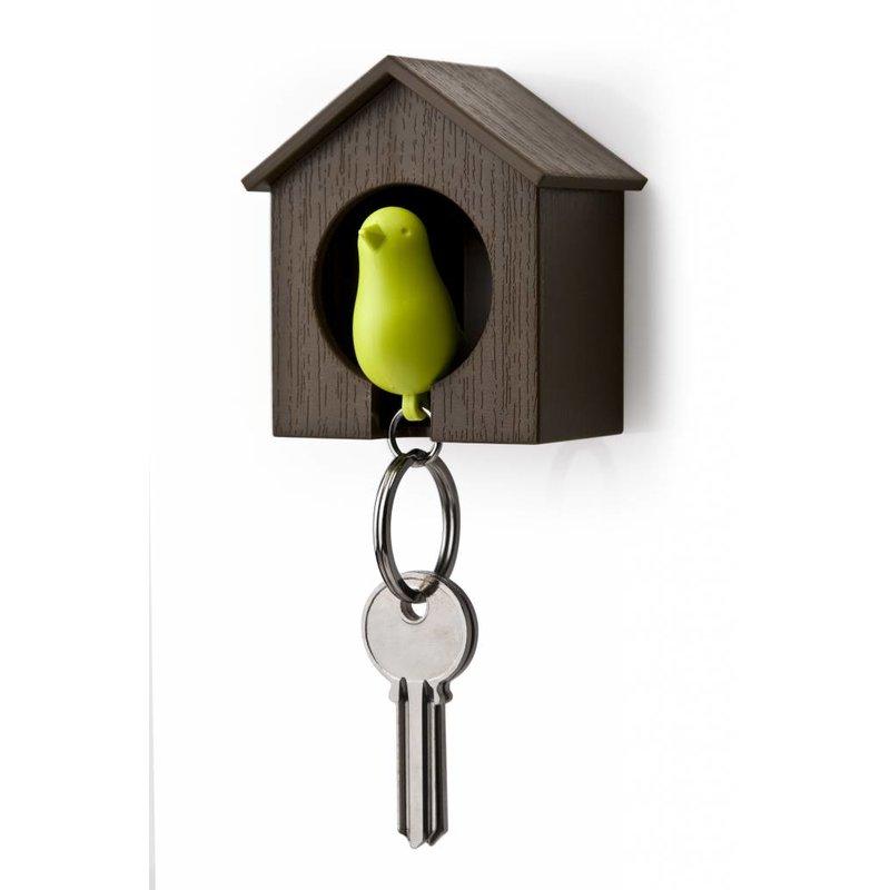 Sleutelhanger Vogelhuisje Bruin-Groen