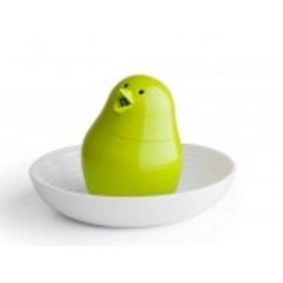 Jib Jib Groen Peper en zout strooier met eierdop