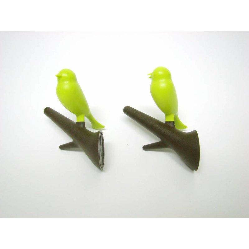 Haakjes Vogel Bruin-Groen