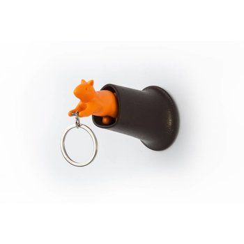Qualy Sleutelhanger Eekhoorn Bruin-Oranje Qualy