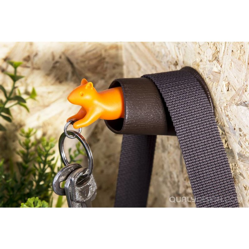 Sleutelhanger Eekhoorn Bruin-Oranje Qualy