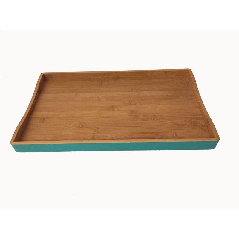 Bamboe Dienblad Groot Turquoise