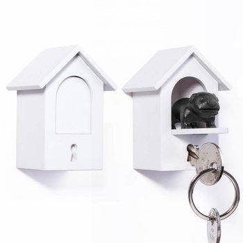Qualy Sleutelhanger Hond Wit-Zwart
