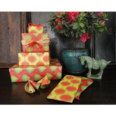 Papier Lampionnen Groen-Rood/Rood-Groen