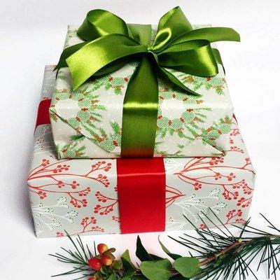 Papier Aziatische Kerst Takjes en Kransen