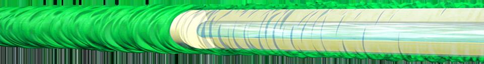 Pocket Hose 22m - Binnen en buitenlaag van de flexibele tuinslang