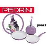 Pedrini Ceramica 3 delige pannenset paars