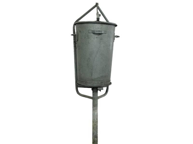 Zinken Vuilnisemmer Ouderwetse Kwaliteit 90 liter