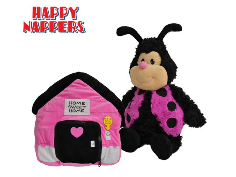 Happy Nappers Knuffelkussen Lieveheersbeestje