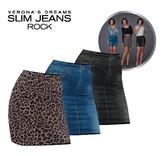 "Korte Rokjes ""Slim Jeans Rock"""