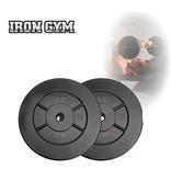 Iron Gym 20kg Plate Set, 10kg x 2