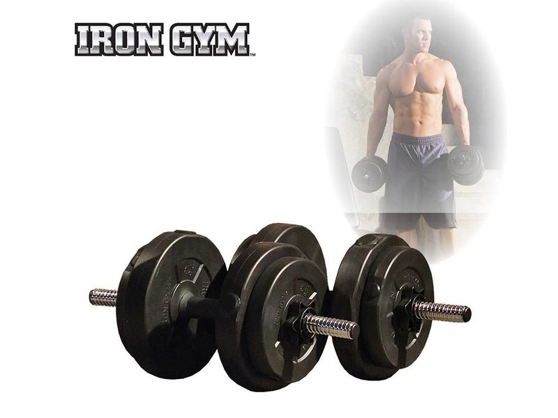 Iron Gym 15kg Adjustable Dumbbell Set