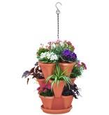 Stackable Planter 3 pcs. Terracotta
