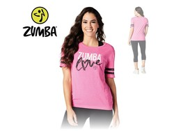 "Zumba  T-shirt ""Love"" - Pink"