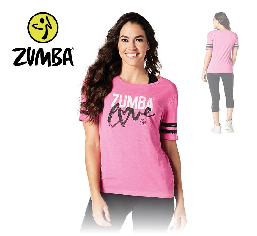 zumba t shirt love pink. Black Bedroom Furniture Sets. Home Design Ideas