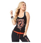 "Zumba Racerback Top ""Hero"" - Black"