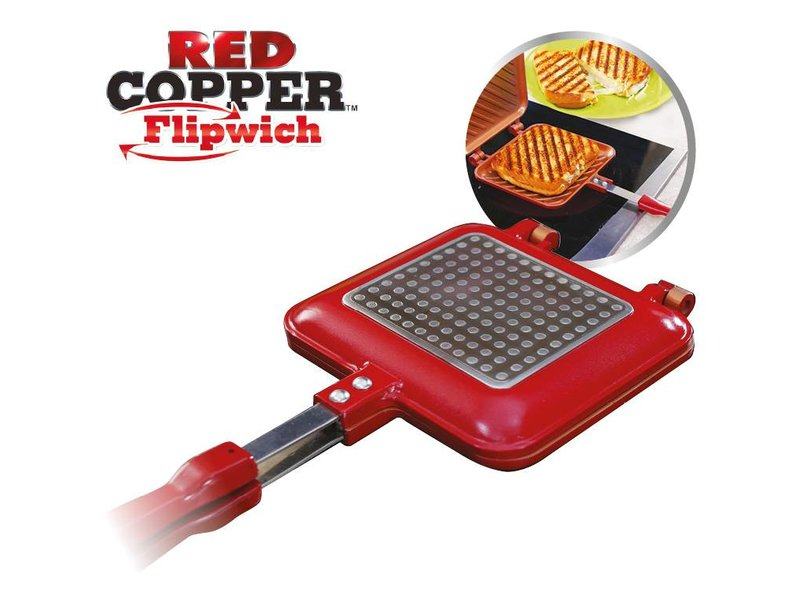 Red Copper Flipwich Pan