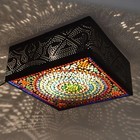 Plafondlamp gaatjes/gekleurd mozaiek
