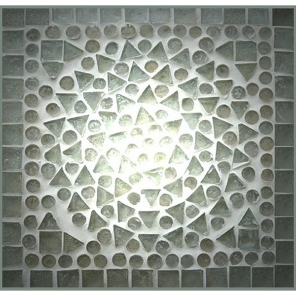 Kast 2 deurs in transparant mozaiek