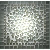 Kast 4 deurs transparant mozaiek