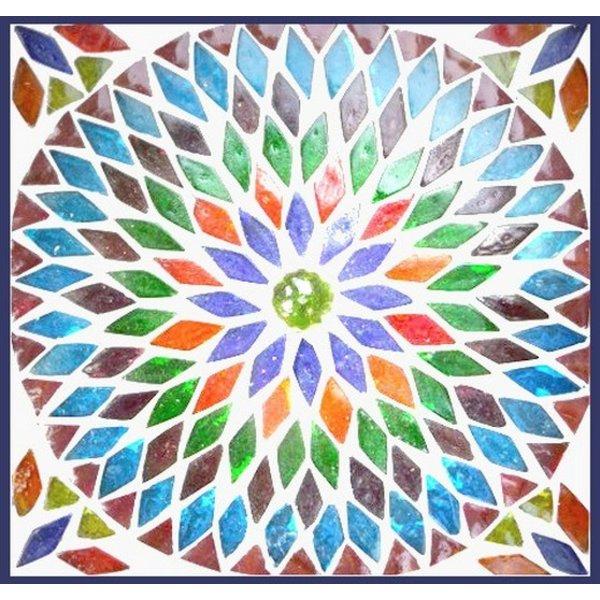 Kast 2 drs gekleurd mozaiek