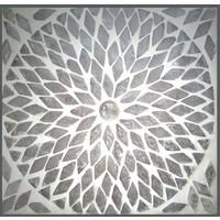 Kast 2 drs transparant mozaiek