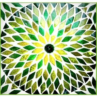 Tafellamp bol klein groen mozaiek