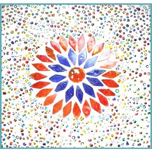 Tafellamp bol klein gekleurd mozaiek