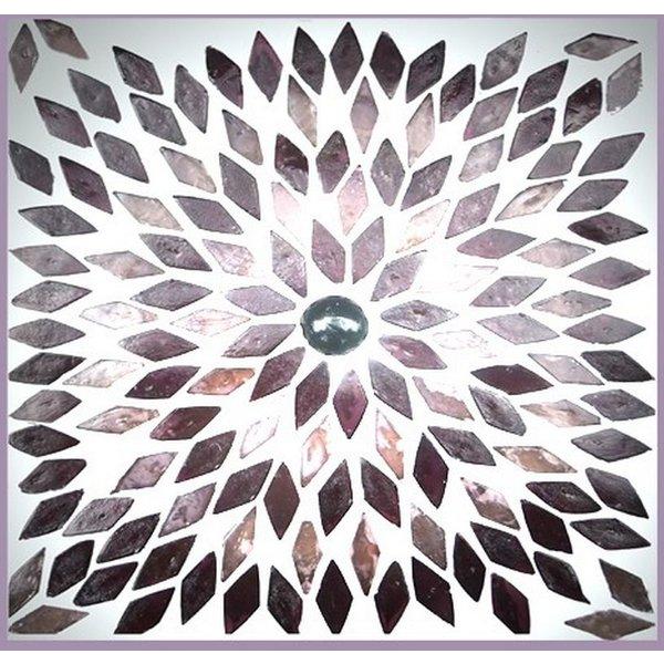 Tafellamp bol groot paars mozaiek
