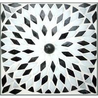 Tafellamp bol groot zwart/wit mozaiek