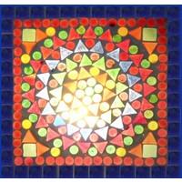 Tafellamp 60 gekleurd mozaiek