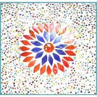 Vloerlamp 120 gekleurd mozaiek