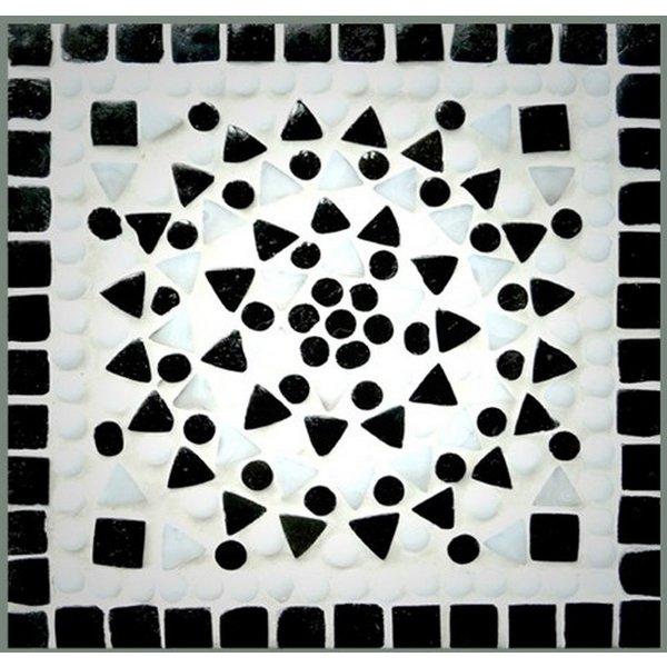 Wandlamp zwart/wit mozaiek