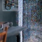 Glaskralen gordijn gekleurd