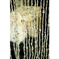 Glaskralen gordijn transparant