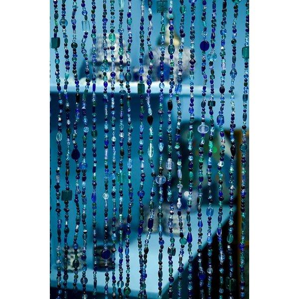 glaskralen gordijn blauw afbeelding vergroten