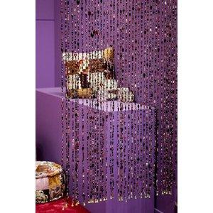 Glaskralen gordijn paars
