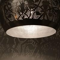 Filigrain hanglamp zilver/zilver met 2 bijpassende waxinelichtjes cadeau!